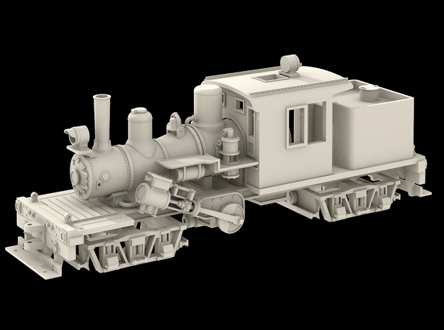 N Scale 25 Ton Climax in Frosted Extreme Detail