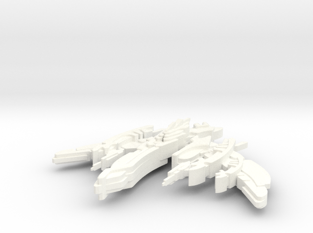 Breen Attack Vessel in White Processed Versatile Plastic