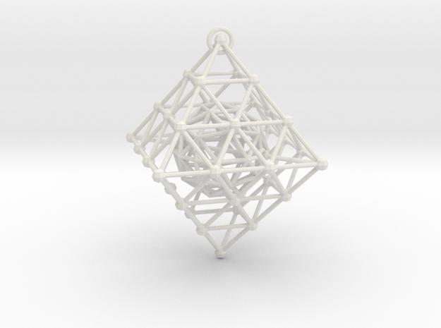 Diamond Spinning Ornament in White Natural Versatile Plastic