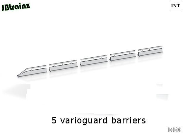 Varioguard Barrier (n-scale) in Smooth Fine Detail Plastic