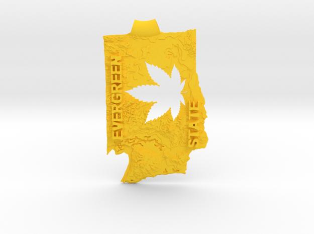 "Wash 2.4"" key fob 3d printed"