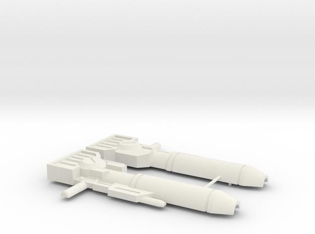 Wideside Gun in White Natural Versatile Plastic