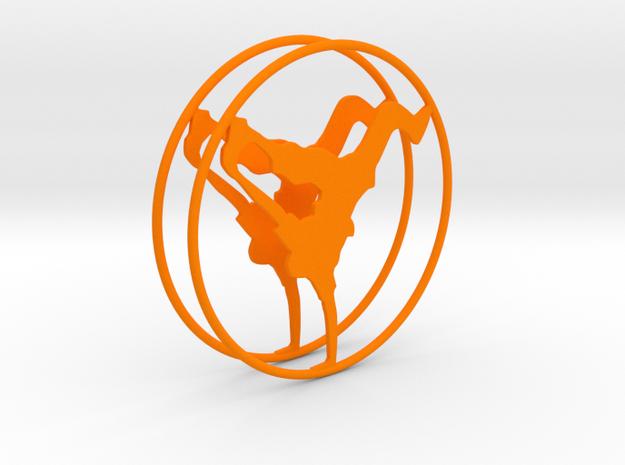 Breakdancer Hoop Earrings 50mm in Orange Processed Versatile Plastic