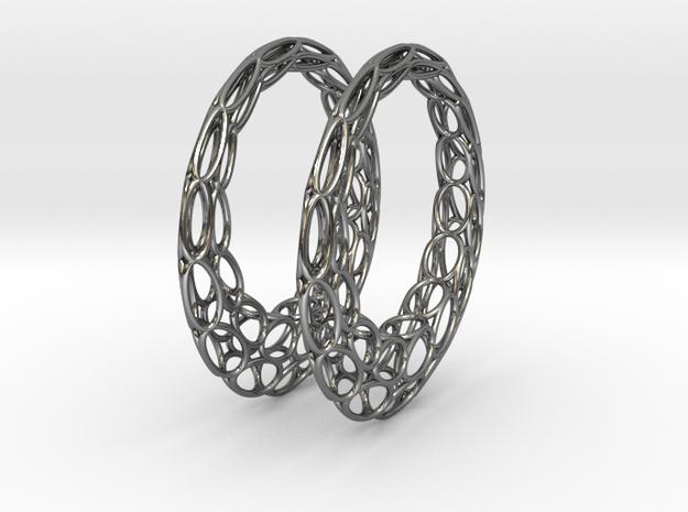 Round Wire Hoop Earrings 50mm