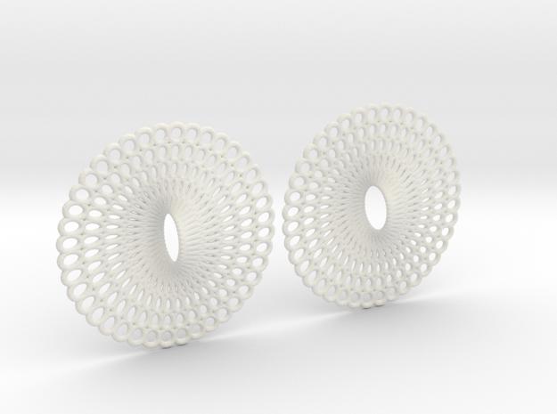 Curvy Hoop Earrings 50mm in White Natural Versatile Plastic