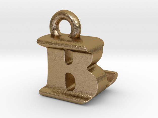 3D Monogram Pendant - BLF1 in Polished Gold Steel