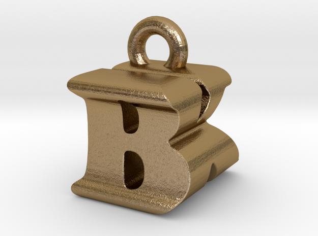 3D Monogram Pendant - BKF1 in Polished Gold Steel
