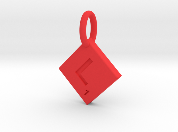 SCRABBLE TILE PENDANT L in Red Processed Versatile Plastic