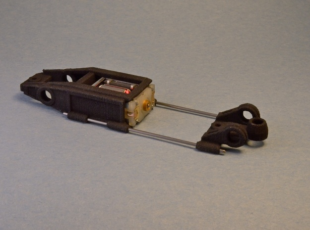 1/43 Slot car chassis for HO Boxer style motors 3d printed