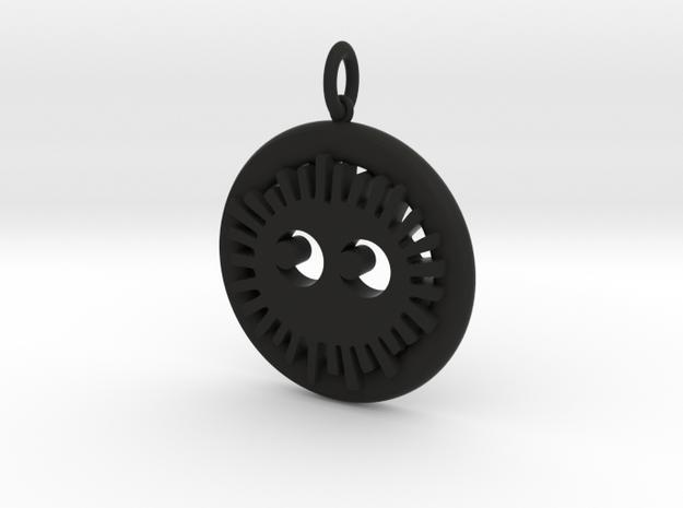 Soot Sprite Pendant in Black Natural Versatile Plastic