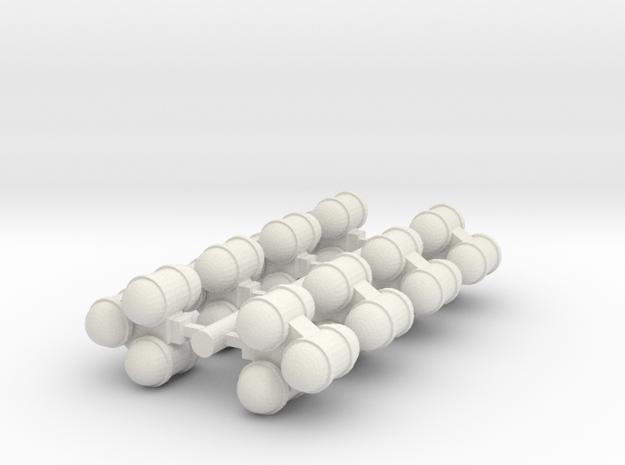 Liquid Tanks 1 in White Natural Versatile Plastic
