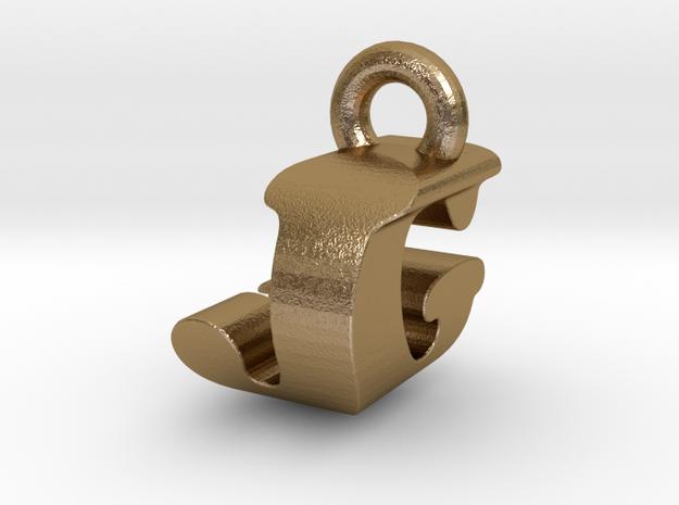 3D Monogram Pendant - JGF1 in Polished Gold Steel