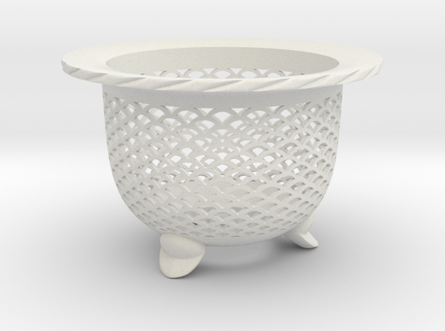 "Neo Pot - Model 1 - Size 2.5 (2.5"" ID) in White Natural Versatile Plastic"