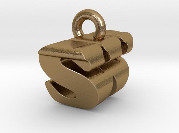 3D Monogram - SWF1 in Polished Gold Steel