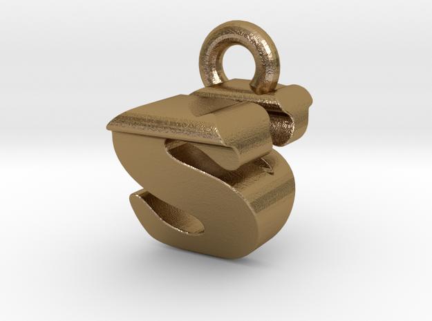 3D Monogram - SVF1 in Polished Gold Steel