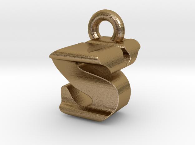 3D Monogram - SYF1 in Polished Gold Steel