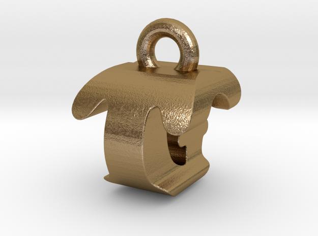 3D Monogram - TGF1 in Polished Gold Steel
