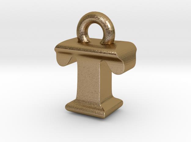3D Monogram - TIF1 in Polished Gold Steel