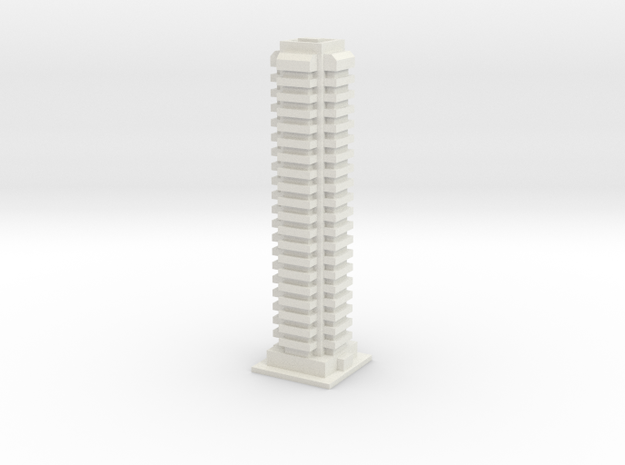 Tower Block 1 in White Natural Versatile Plastic