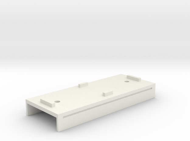 Base Carriage Europe #2 (n-scale) in White Natural Versatile Plastic