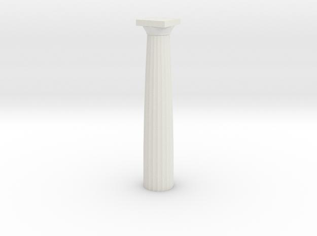 Doric Column No Base 12 Cm in White Natural Versatile Plastic