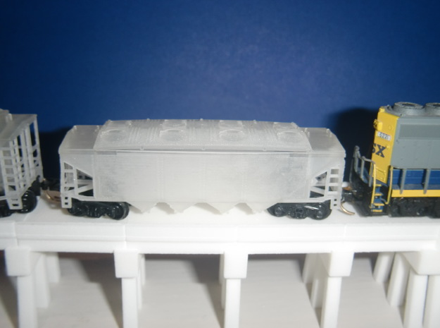 U12 N Scale No Roofwalk in Smooth Fine Detail Plastic