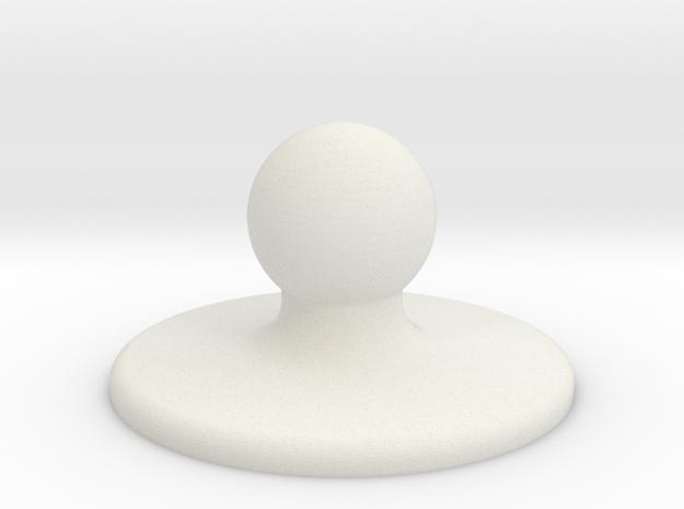 Ball hinge - ball part in White Strong & Flexible