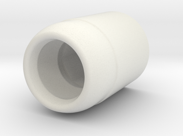 Ball hinge - hinge part in White Natural Versatile Plastic