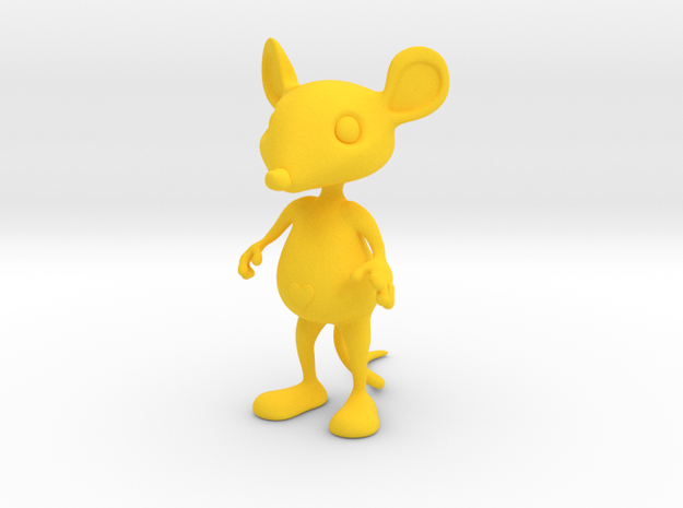 Tiny Heart Mouse 3d printed