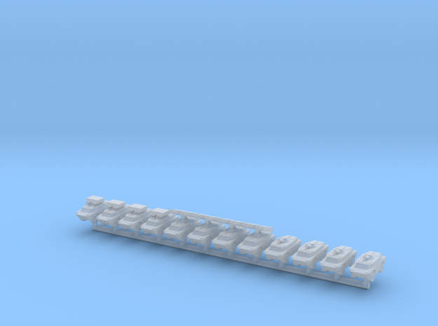 1/700 BRDM-2 Variants (x12) in Smooth Fine Detail Plastic