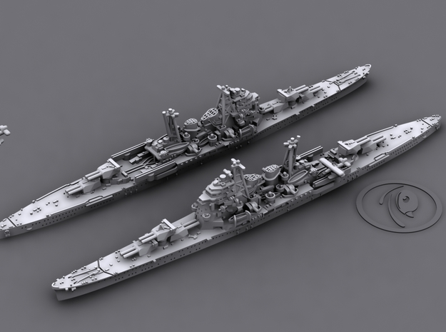 1/1800 IJN CA Chokai[1942] 3d printed 3D software render, aircraft not included