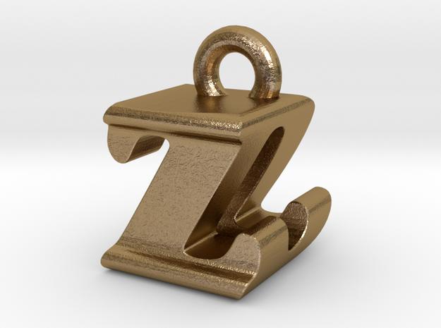 3D Monogram - ZDF1 in Polished Gold Steel