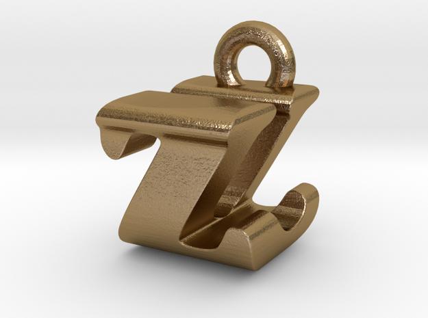 3D Monogram - ZUF1 in Polished Gold Steel