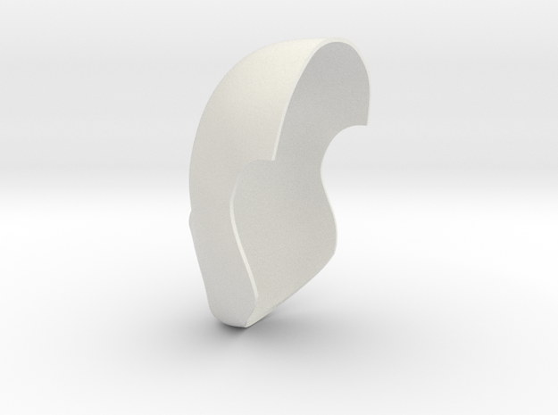 Faceshell-22.5cm in White Natural Versatile Plastic