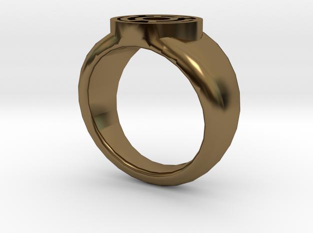 Yellow Lantern Ring 3d printed