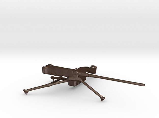 M2 Browning 50cal Tripod Mounted 1:35 Scale in Matte Bronze Steel