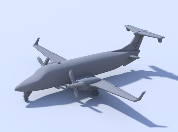 1:500 - Beechcraft_1900D [Assembled] in Smooth Fine Detail Plastic