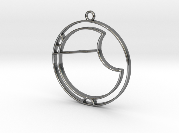 Ava - Necklace in Polished Silver
