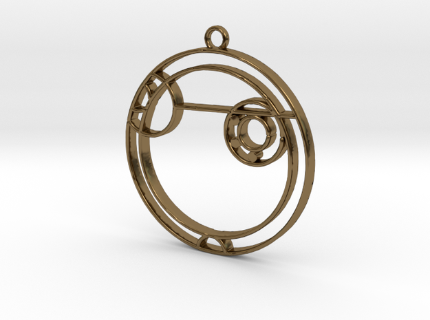 Alexa - Necklace in Polished Bronze