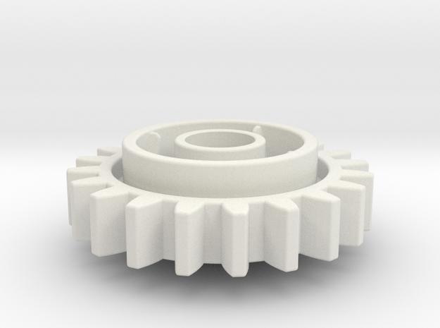 Clutch 20 in White Natural Versatile Plastic