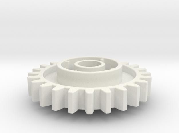 Clutch 24 in White Natural Versatile Plastic