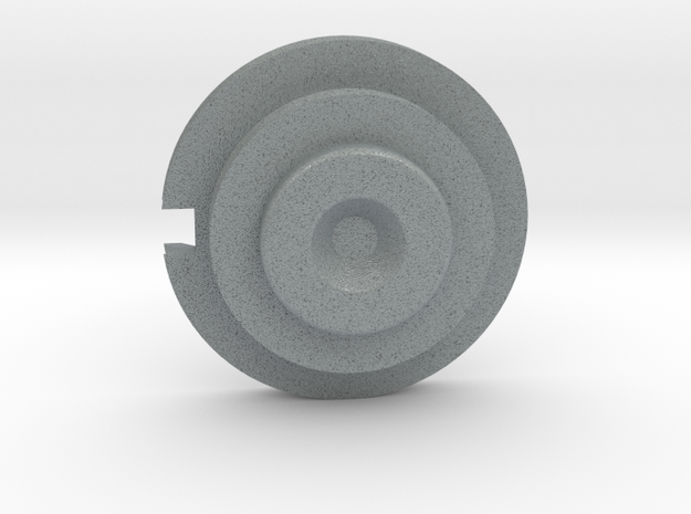 Officer Disk Notched in Polished Metallic Plastic