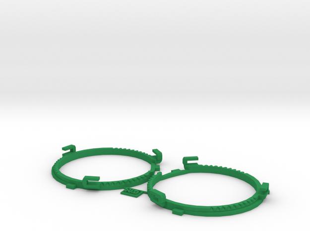 60.5mm  Lens Separators   Oculus Rift DK2 in Green Processed Versatile Plastic