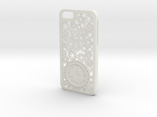 Steampunk Clock iPhone 6 Case in White Natural Versatile Plastic