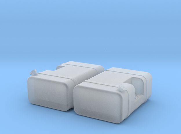 "1/64th Scale 36"" Square fuel tanks w step in Smooth Fine Detail Plastic"