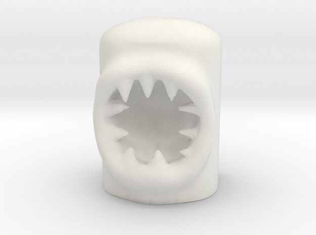 MiniMonstre - Teeths in White Natural Versatile Plastic