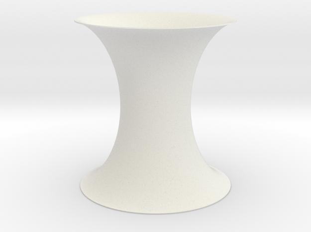 Constant Negative Gauss Curvature in White Natural Versatile Plastic
