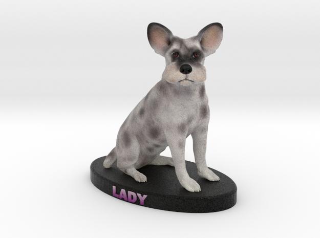 Custom Dog Figurine - Lady in Full Color Sandstone
