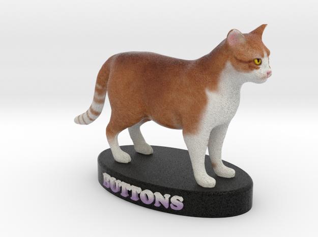 Custom Cat Figurine - Buttons 3d printed