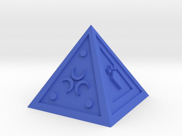 Legend of Zelda Pyramid Display Piece in Blue Processed Versatile Plastic